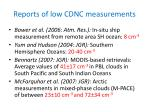 reports of low cdnc measurements
