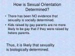 how is sexual orientation determined
