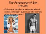 the psychology of sex 378 383