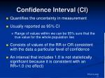 confidence interval ci