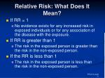 relative risk what does it mean