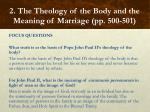 2 the theology of the body and the meaning of marriage pp 500 5017