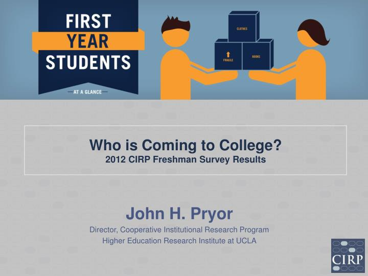 who is coming to college 2012 cirp freshman survey results n.