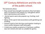 19 th century athleticism and the role of the public school1