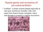 popular games and recreations of pre industrial britain1