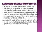 laboratory examination of sputum1