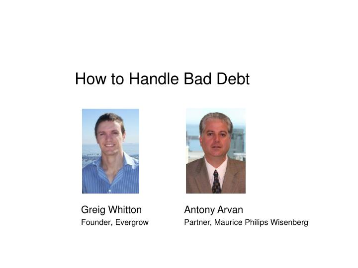 how to handle bad debt n.