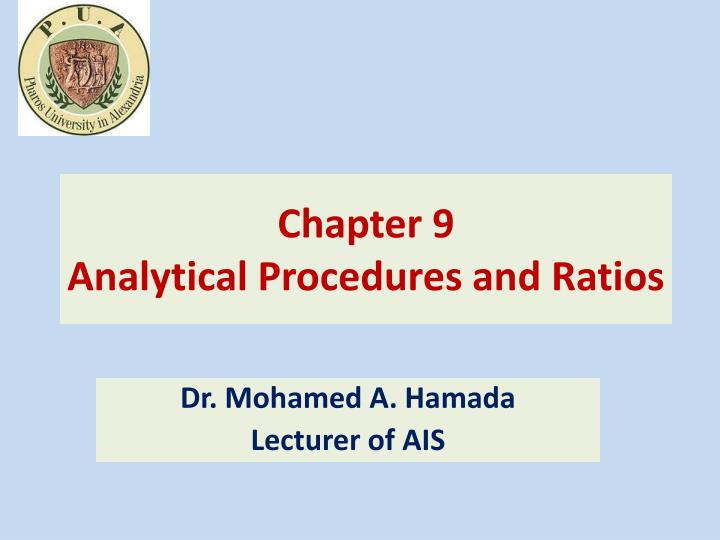 chapter 9 analytical procedures and ratios n.