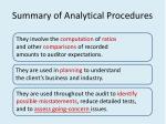 summary of analytical procedures