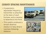 convoy spacing maintenance