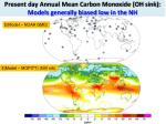 present day annual mean carbon monoxide oh sink models generally biased low in the nh1