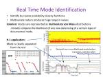 real time mode identification