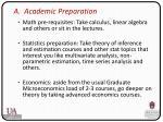a academic preparation