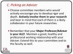 c picking an adviser1