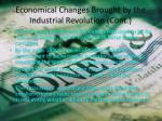economical changes brought by the industrial revolution cont2