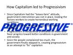 how capitalism led to progressivism