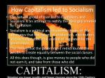 how capitalism led to socialism