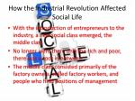 how the industrial revolution affected social life