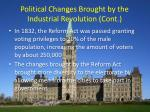 political changes brought by the industrial revolution cont