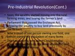 pre industrial revolution cont