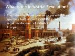 what is the industrial revolution