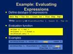 example evaluating expressions