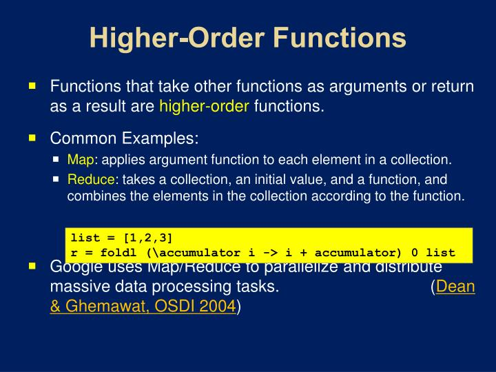 Higher-Order Functions