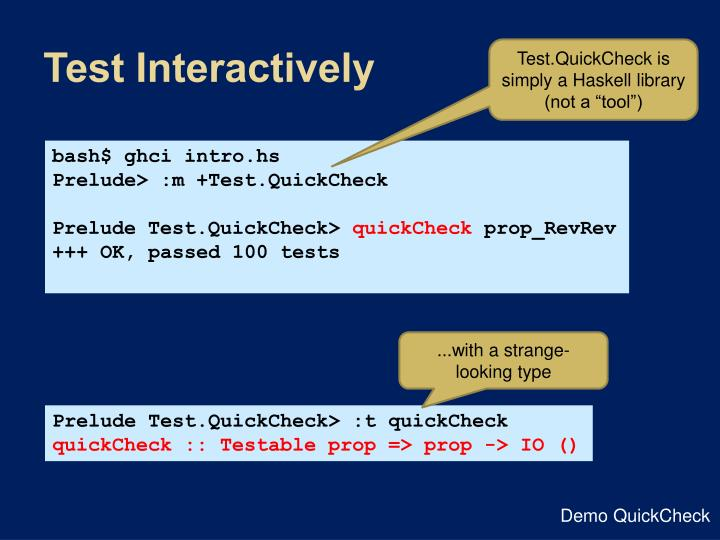 Test Interactively
