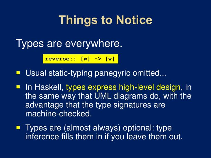 Things to Notice