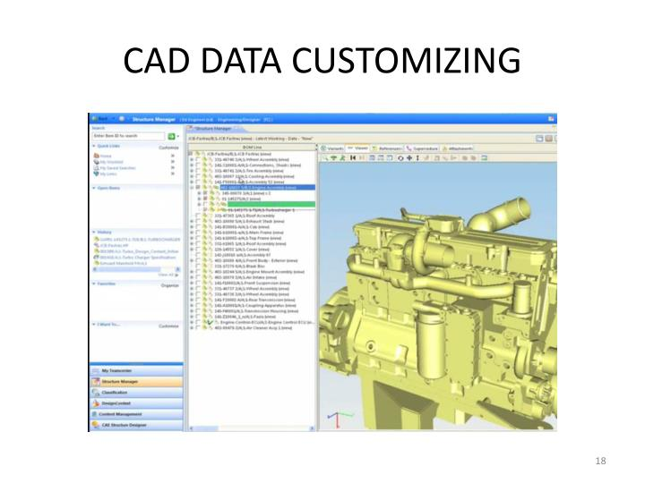 CAD DATA CUSTOMIZING