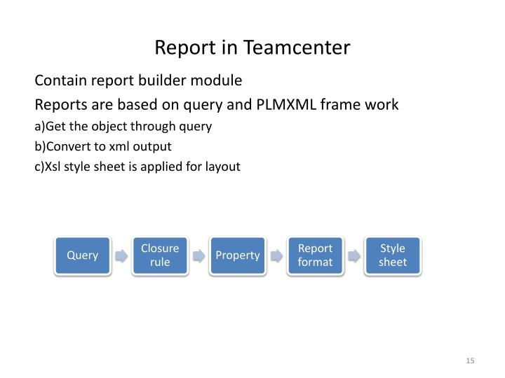 Report in Teamcenter