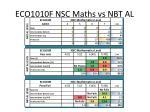 eco1010f nsc maths vs nbt al