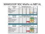 mam1010f nsc maths vs nbt al