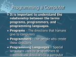 programming a computer