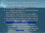 typical c development environment cont1