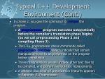 typical c development environment cont3