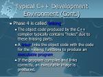 typical c development environment cont5