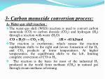 3 carbon monoxide conversion process