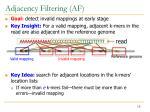 adjacency filtering af