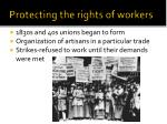 protecting the rights of workers