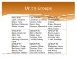 unit 5 groups