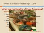 what are the benefits of food processing