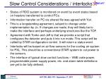 slow control considerations interlocks