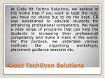 about techgyan solutions