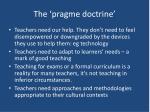 the pragme doctrine