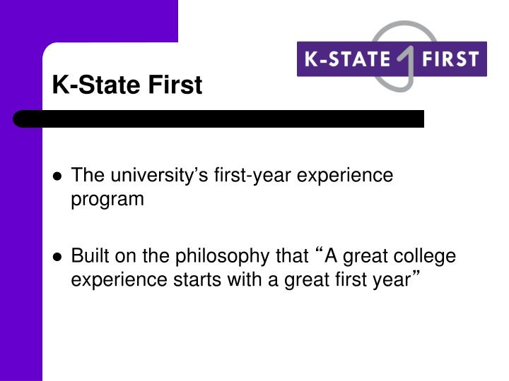 k state first n.