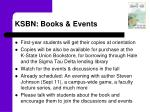 ksbn books events