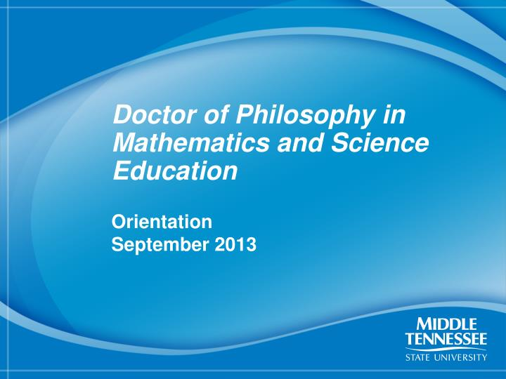doctor of philosophy in mathematics and science education n.