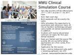 mwu clinical simulation course