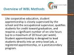 overview of wbl methods15